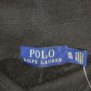 Polo by Ralph Lauren Pants - Polo Ralph Lauren Mens Sweatpants Black/Red Pony X